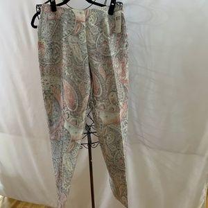 Pastal Paisley Linen/Silk Tapered Pant - NWT